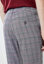 Superbalist - Slim fit cropped check chino - multi