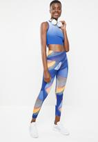 Reebok - Lux bold rise tights - blue
