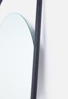Smart Shelf - Eclipse leaning mirror - black