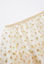 Cotton On - Trixiebelle tulle skirt - cream & gold