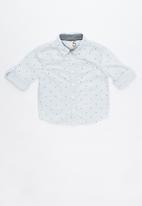 Cotton On - Noah long sleeve shirt - blue