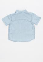 Cotton On - Zac short sleeve shirt - blue