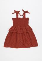Cotton On - Lilly mae dress - burgundy