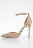Call It Spring - Snake skin combo ankle strap heel - pink