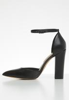 ALDO - Pointed ankle strap heel - black