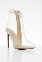 Plum - Translucent ankle boot - nude