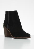 ALDO - Suede back zip ankle boot - black