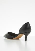 ALDO - Leather slip-on kitten heel pump - black