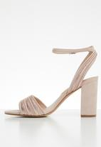 ALDO - Metallic combo ankle strap heel - pink