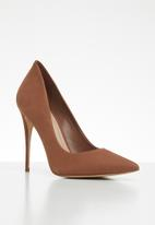 ALDO - Suede slip-on stiletto heel - brown