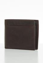 Fossil - Neel large coin pocket bifold - brown