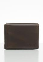 Fossil - Derrick execufold - brown
