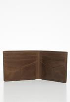Fossil - Derrick front pocket bifold - brown