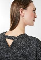 edit - Back detail cardigan - grey