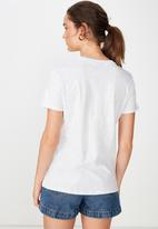 Cotton On - Classic band tee - silver