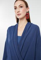 G Couture - Cross front longer length top - blue