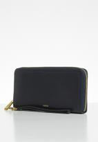Fossil - Logan zip purse - navy