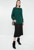 G Couture - Batwing loose jumper - green