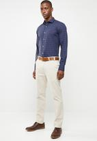 POLO - Signature motif fit shirt - navy