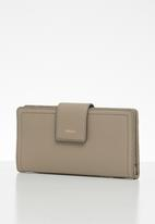 Fossil - Logan tab purse - grey