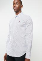 POLO - Signature custom fit shirt - white