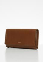 Fossil - Logan flap purse - brown