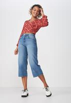 Cotton On - Maddie button up blouse - red