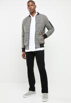 Jack & Jones - One pocket long sleeve shirt - white