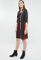 Revenge - Stripy shirt dress - multi