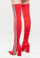 Footwork - Angelique over the knee boot - red