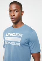 Under Armour - UA short sleeve team issue wordmark tee - blue
