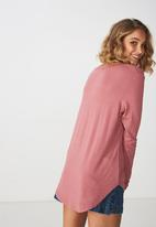 Cotton On - Karly long sleeve top - pink