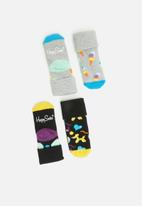 Happy Socks - 2 pack balloon animal terry socks - multi