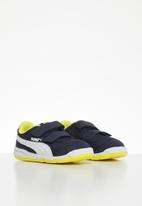 PUMA - Stepfleex 2 mesh v infant - peacoat/blazing yellow