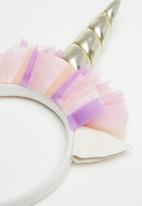 Cotton On - Kids unicorn tulle headband - multi