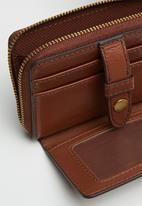 Fossil - Fiona coin - brown