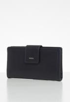 Fossil - Logan zip purse - dark navy
