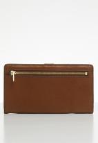 Fossil - Liza bifold - brown