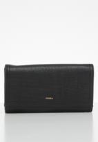 Fossil - Logan flap purse - black