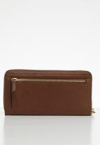 Fossil - Logan zip purse - brown