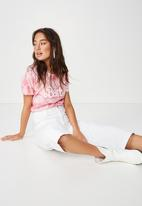 Cotton On - Classic band tee - pink