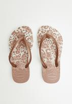 Havaianas - Slim animal flip flops - blush