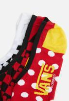 Vans - Mickeys 90th canoodles 3 pack socks - multi