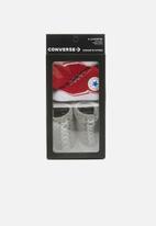 Converse - Converse chuck socks - grey & red