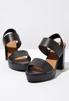 Cotton On - Faux leather platform heel - black