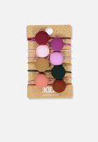 Cotton On - Knot messy pom poms hairties - multi