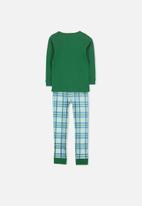 Cotton On - Harry boys long sleeve pyjama set - green & blue