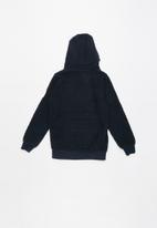 Brave Soul - Zip through hoodie - navy