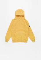 Brave Soul - Boys overhead hooded jumper kangaroo - yellow