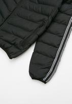 Brave Soul - Boys padded hooded jacket - black